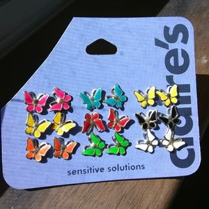 Claire's Sensitive Solutions Butterfly Stud Earrin